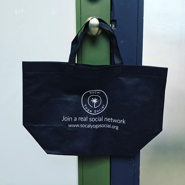 Opportunity is knocking! Join us for yoga & social hour tomorrow (Thursday!) at 5:30pm and leave with one of our new totes! *400 S Broadway, RB*  #gifts #blessed #yoga #redondobeach #womansclub #namaste