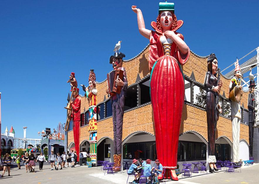 Carnival figures Luna Park October 2015, Photo courtesy of Luna Park, Melbourne