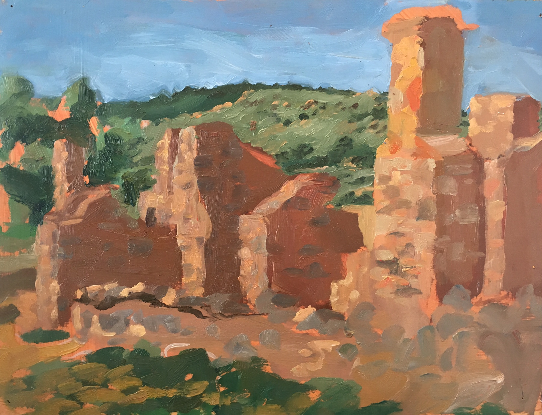 Kanyaka Homestead sketch, Oil on panel, 34 x 26 Oil on panel, 2013