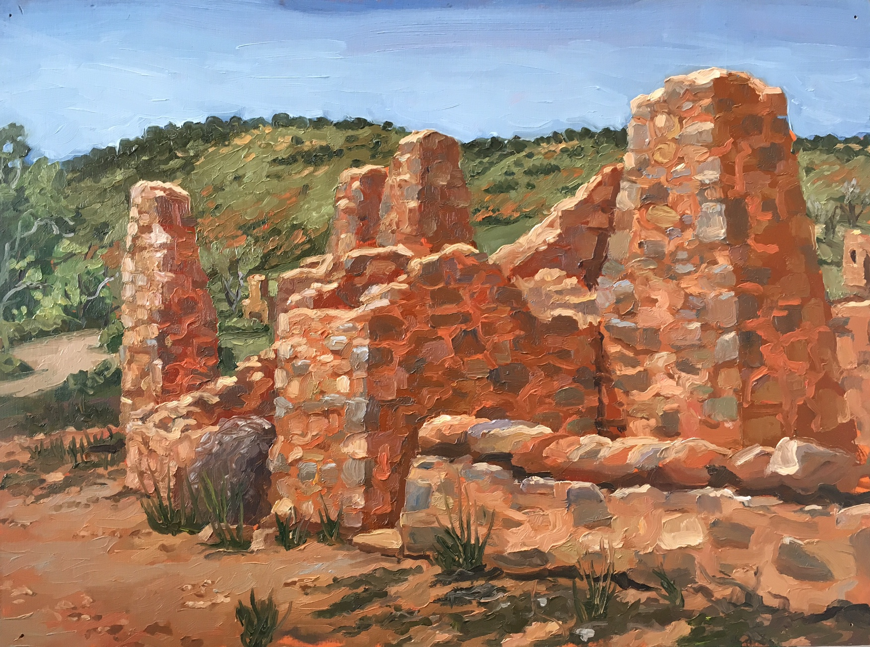 Kanyaka Homestead, Oil on panel, 30 x 40cm, 2013.