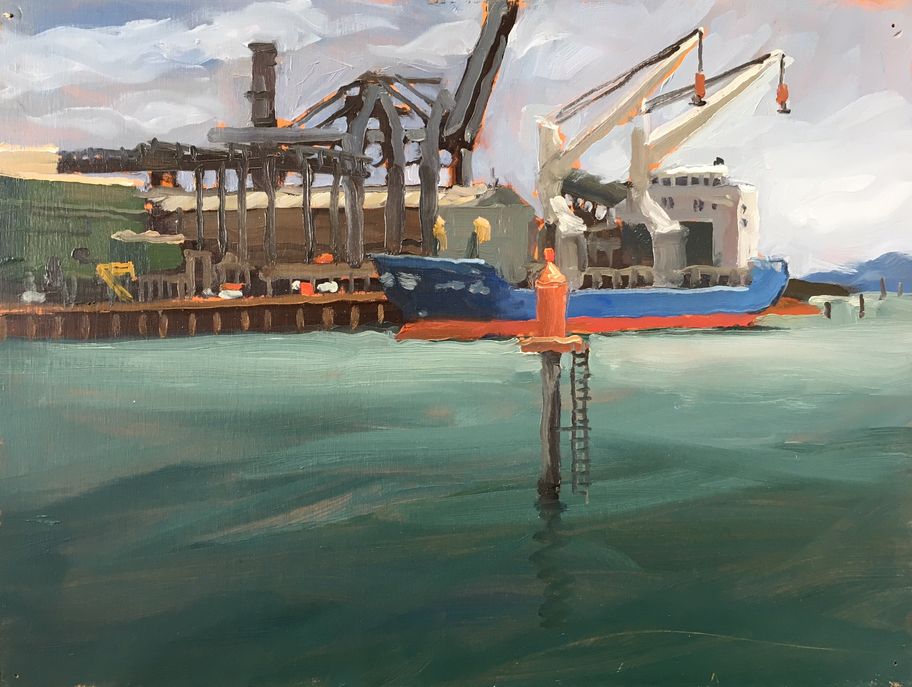Port Pirrie, Oil on Canvas, 30 x 40cm, 2013
