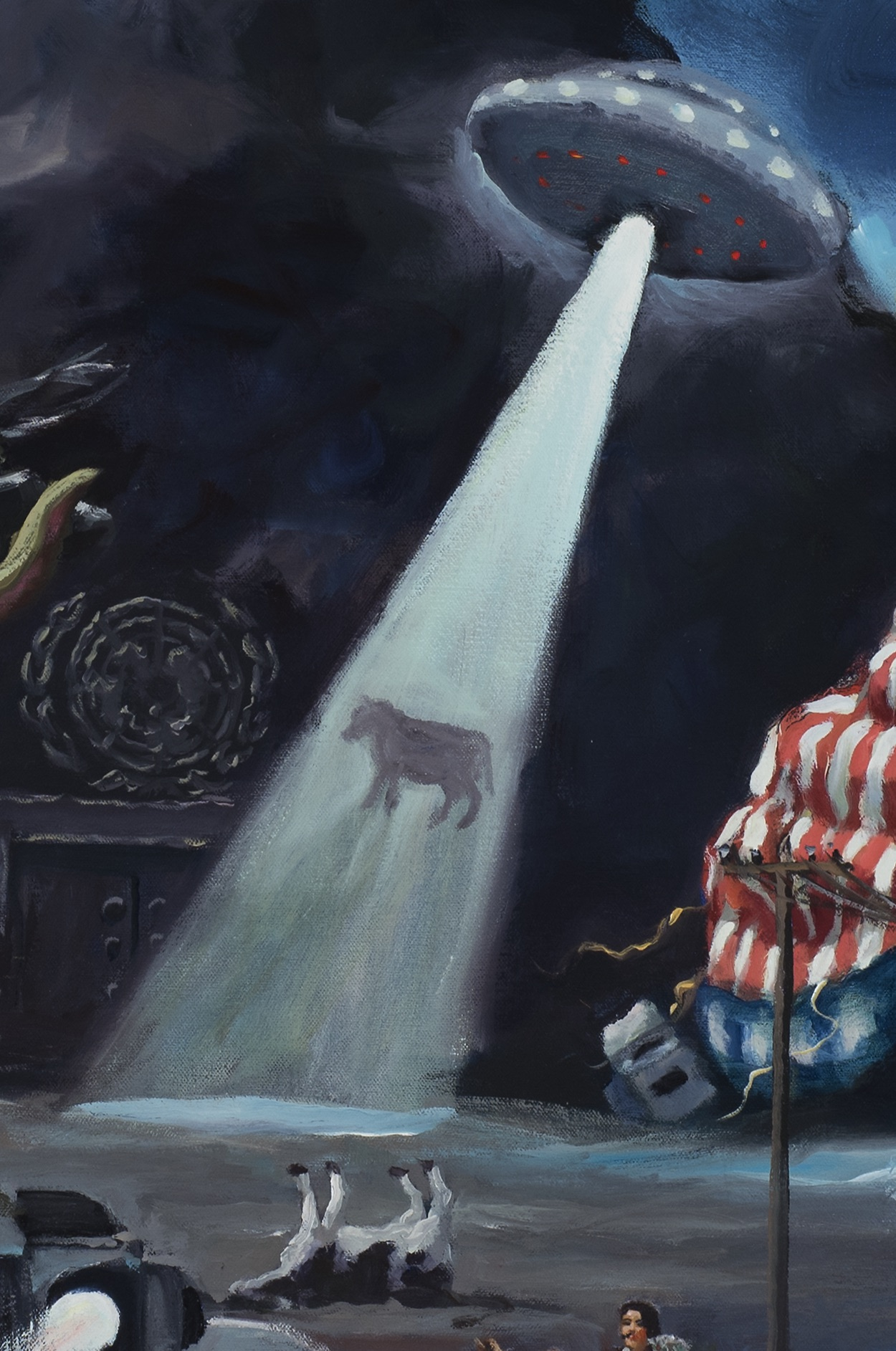 American dream, detail, alien abduction