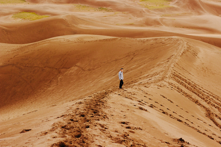 Great Sand Dunes, Trekking up and up...