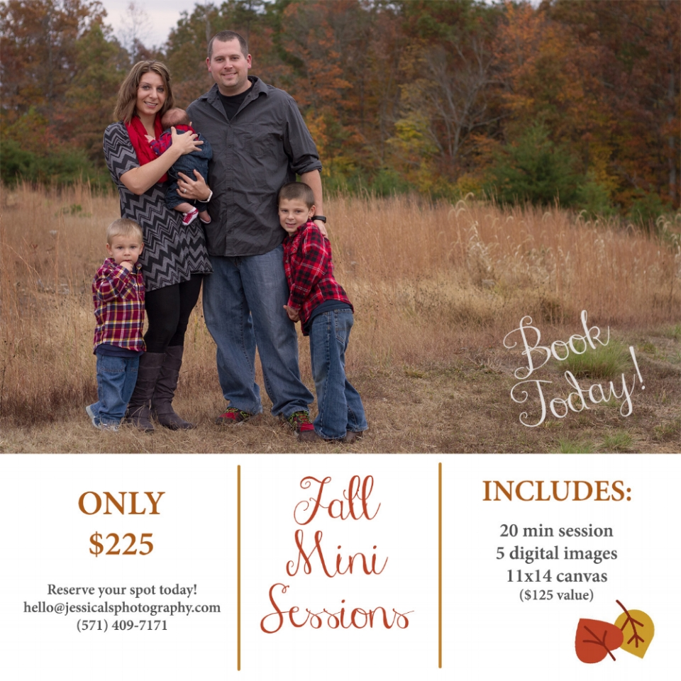 Fall Mini sessions with Jessica LS Photography in Woodbridge VA