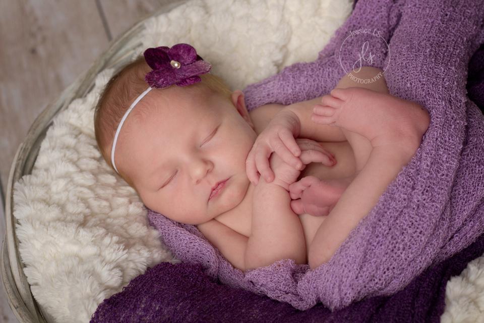 NewbornGirlinPurple