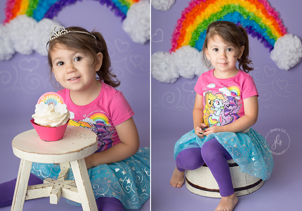 I may be a little partial to this session being that it is my daughter.  After watching all the other little babies coming into our home studio, she wanted to make sure she received her own little cake smash.  Who says cake smash fun is only for one year olds?