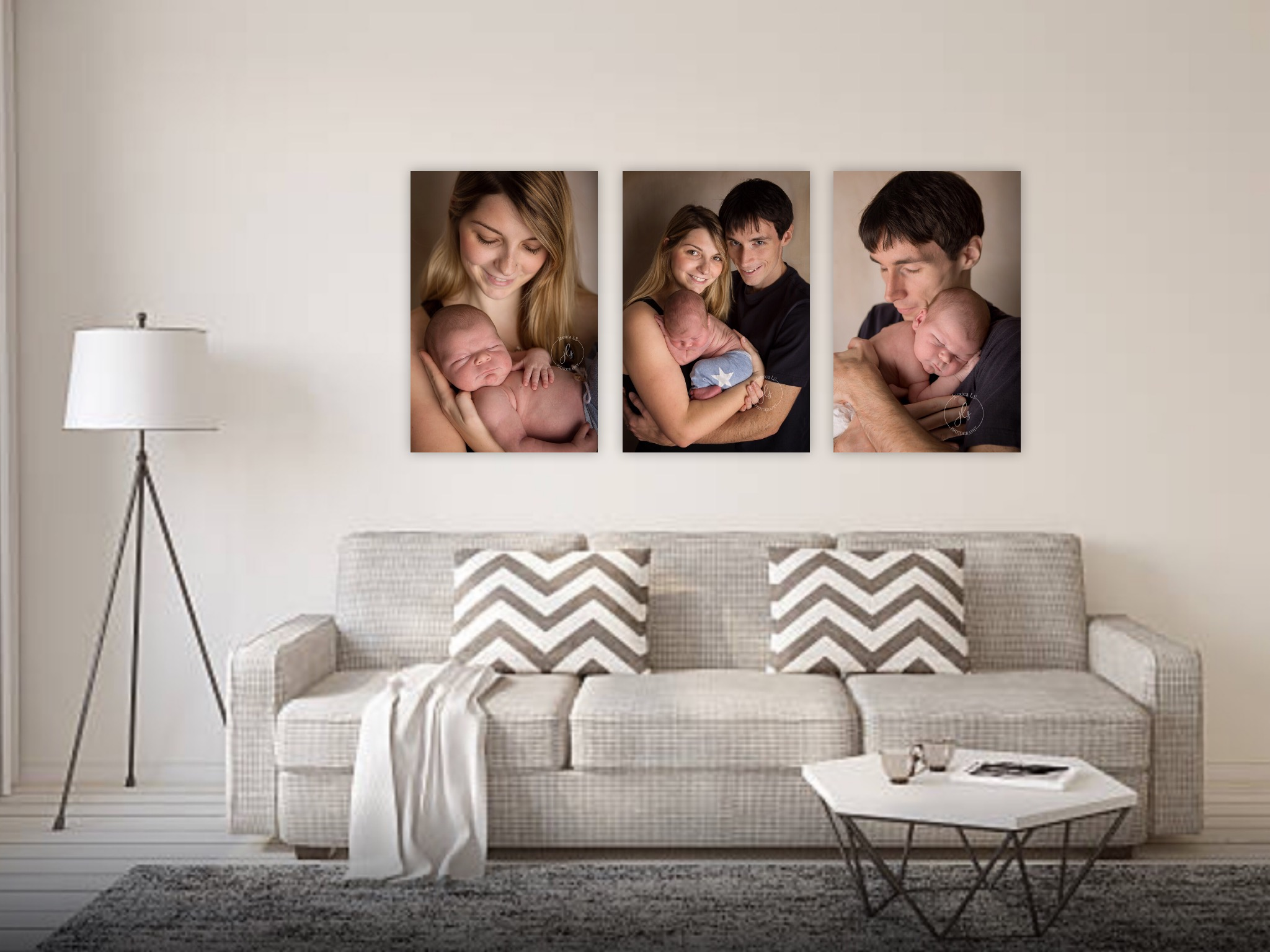 canvas collection in living room