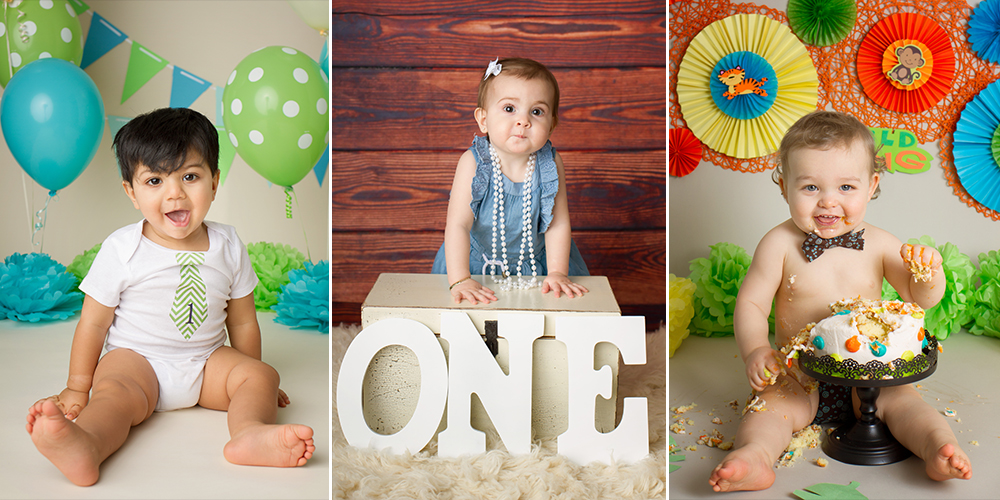 Your child's First Birthday celebration should be the best!  Capture their First Birthday in style with a Cake Smash session!