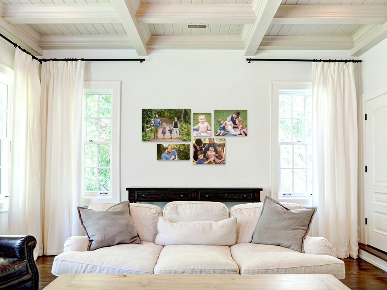 Fall Wall gallery collection in a living room