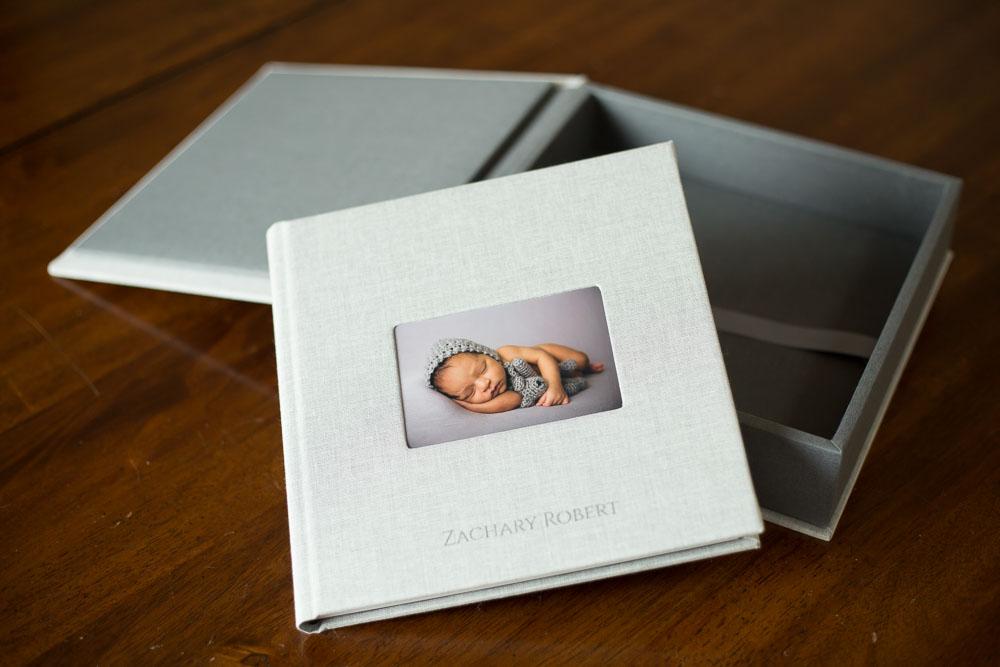 Grey newborn Fine Art album