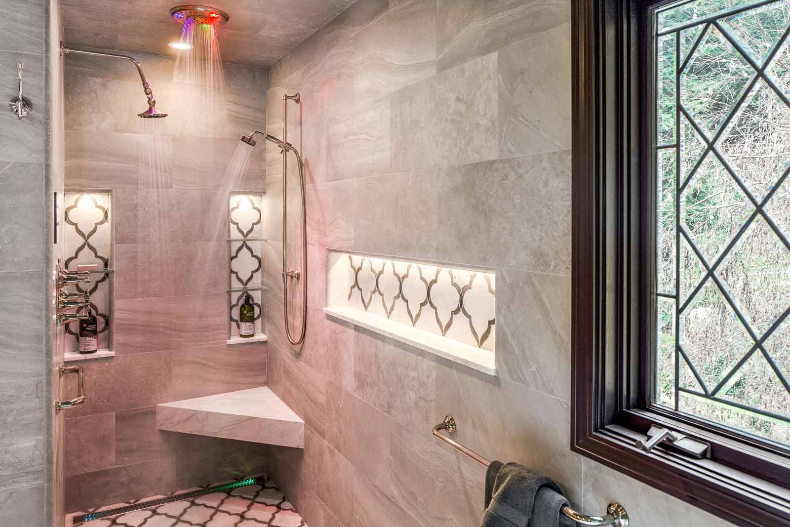 Master Shower with Integrated Chromatherapy