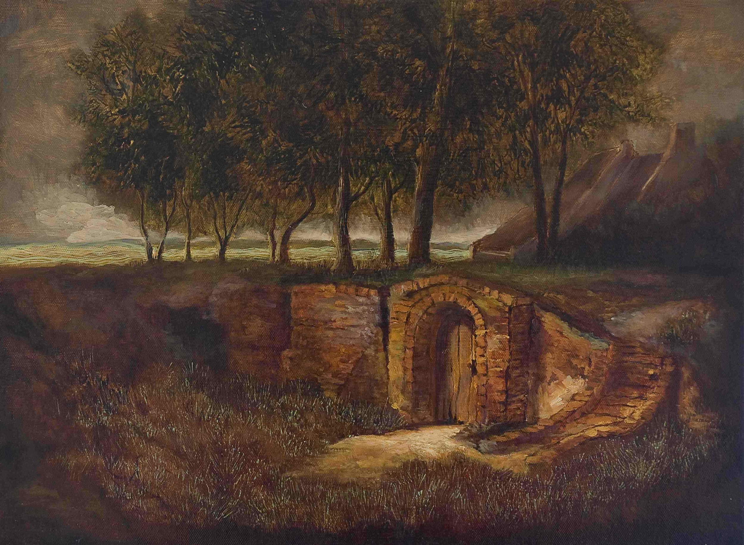 Entrance to a vault (after Ruisdael)