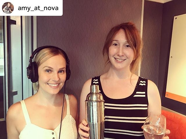"Flashback to ""Pre-Ging"" with one of my favourite Ging's goin' round!!! Love popping into Nova, it's even better when booze is involved 😍 . . . . #nong #preging #ging #voiceover #inthebooth #novacreate @nova_969 @amy_at_nova"
