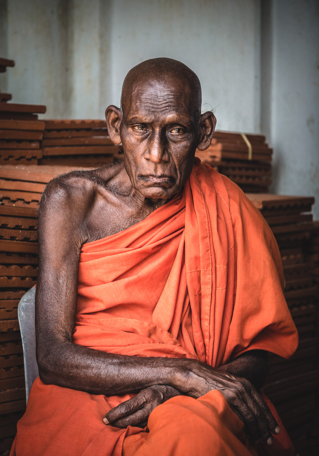 Monk in Mihintale