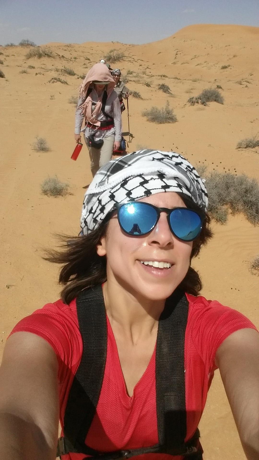 Lamees (Kuwait) enjoying the sunshine.