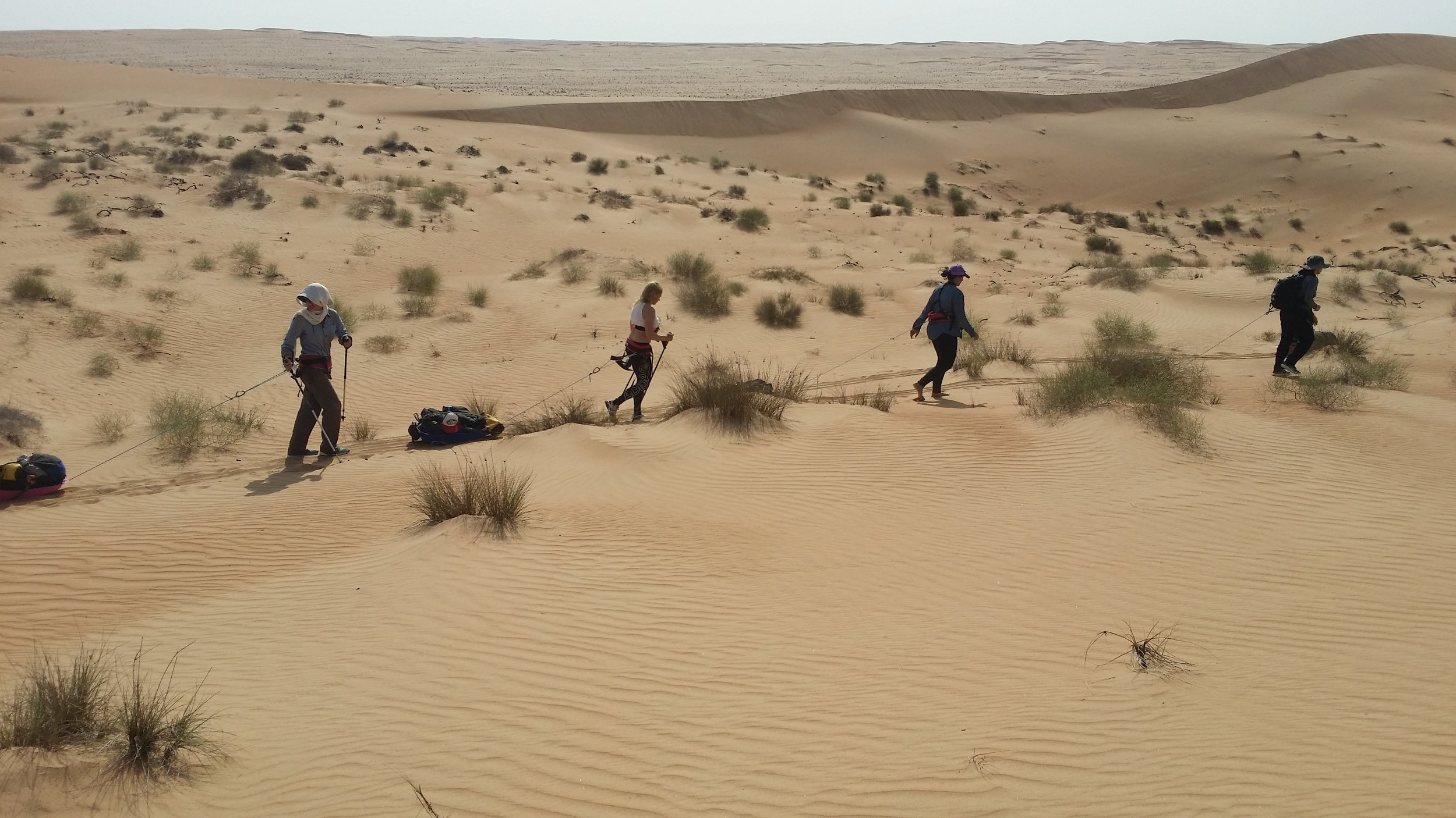 Nearing the end of the Wahiba Sands.