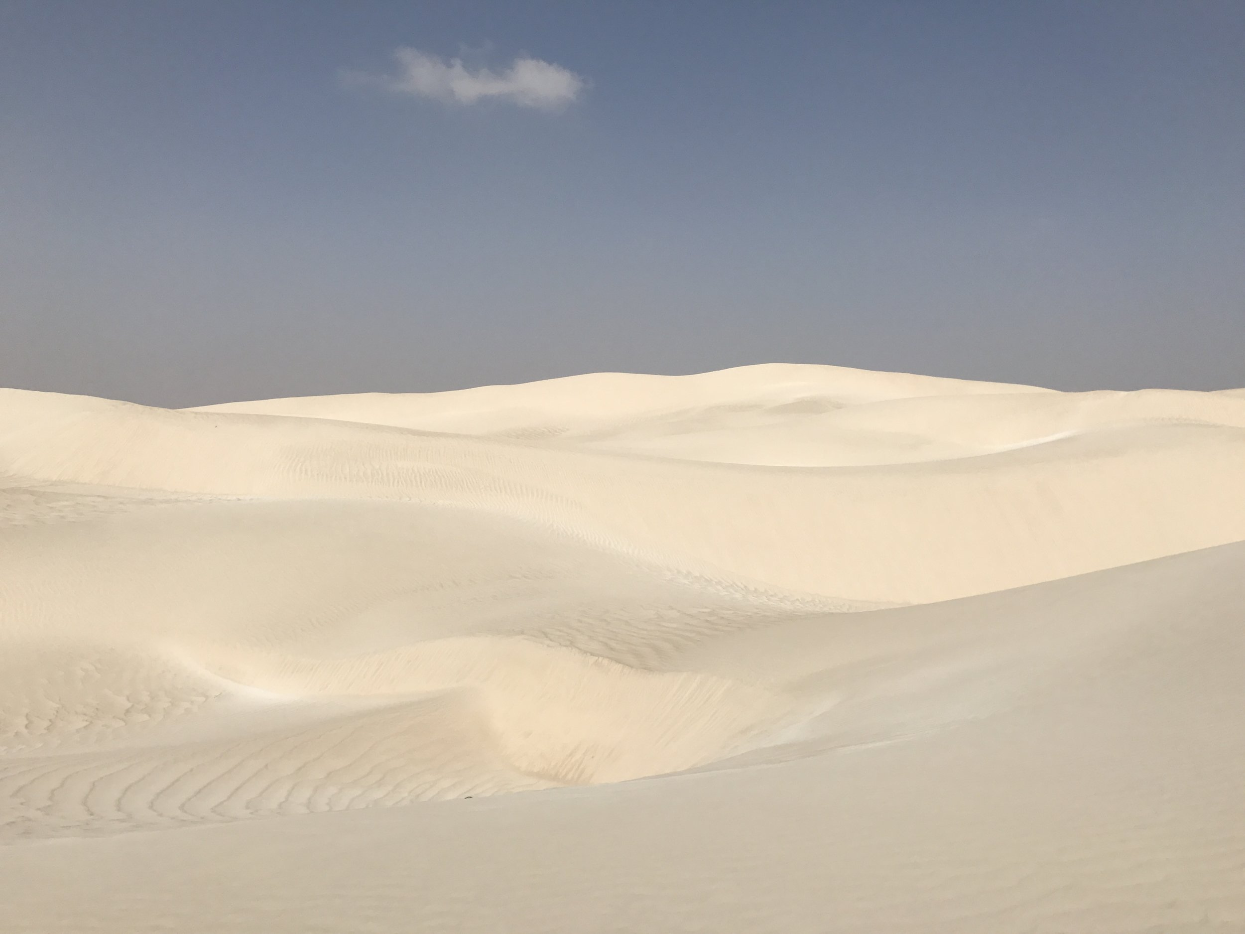 The Sugar Dunes of Oman. As close to a polar landscape as you can get in the desert!