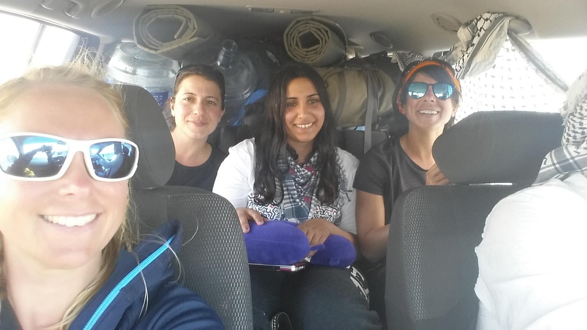 Above: Ida (Sweden), Steph (Cyprus), Mariam (Saudi Arabia) and Lamees (Kuwait)