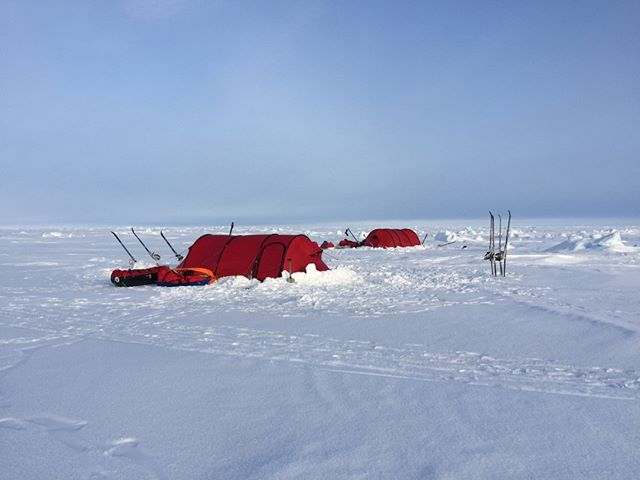Home for the night (day?!). Comfy Hilleberg tents #northpole #hilleberg #kaspersky @kasperskylab powered by @engie #tent #snow #ice #cold #landscape #arctic #wild