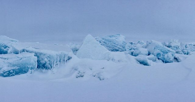 Day 3: View from our tent. Ice blocks. No filter.  We had to cross rubble fields full of these ice blocks with our skis and pulling our sledges. A somewhat frustrating but adrenaline filled task trying to navigate the ice, stay upright and not get too cold.  @kasperskylab powered by @engie  #northpole #arctic #nofilter #ice #snow #landscape #tent #nature #adventure #obstaclecourse #shadesofblue #blue #iceblock #sky #wilderness #expedition #panorama #iphone6 #iphone