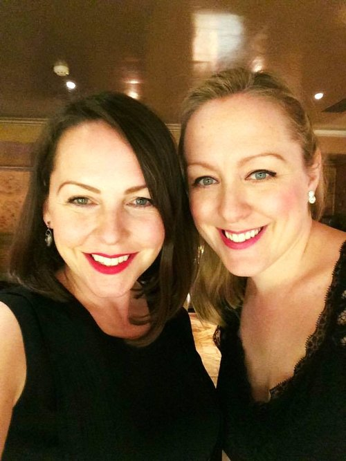 Professional Musicians in business, Anna (L) and Libby (R) of Blue Topaz Music