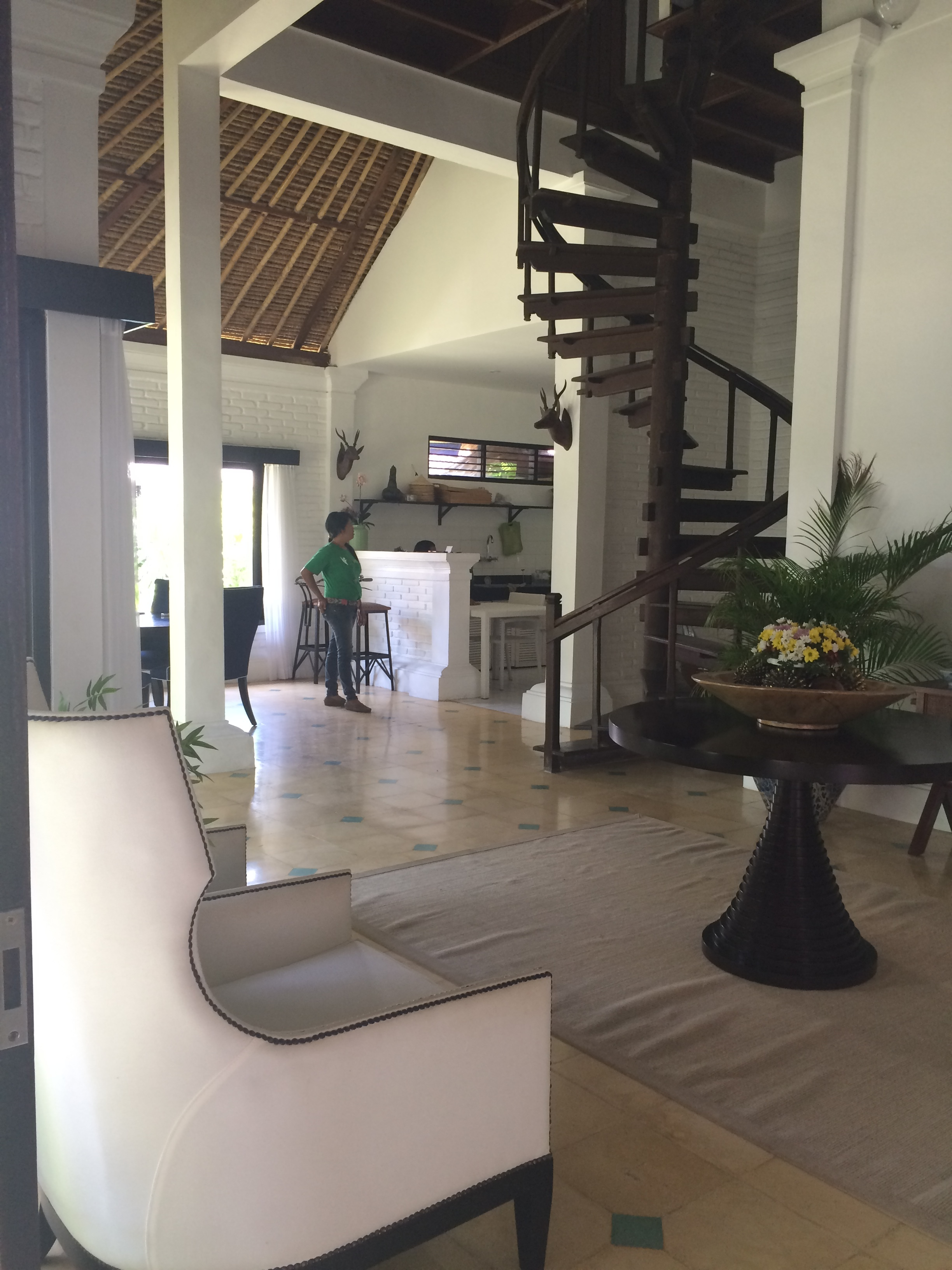 Living room of one of the Indies villas