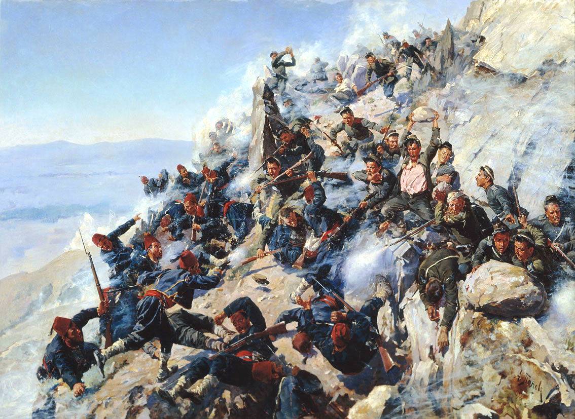 The Defence of the Eagle's Nest , Alexey Popov, 1893