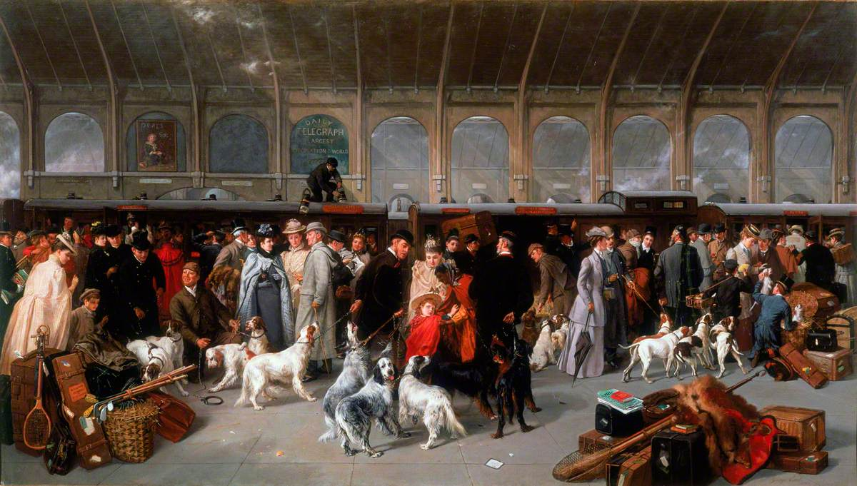 Going North: King's Cross Station, London by George Earl, circa 1895