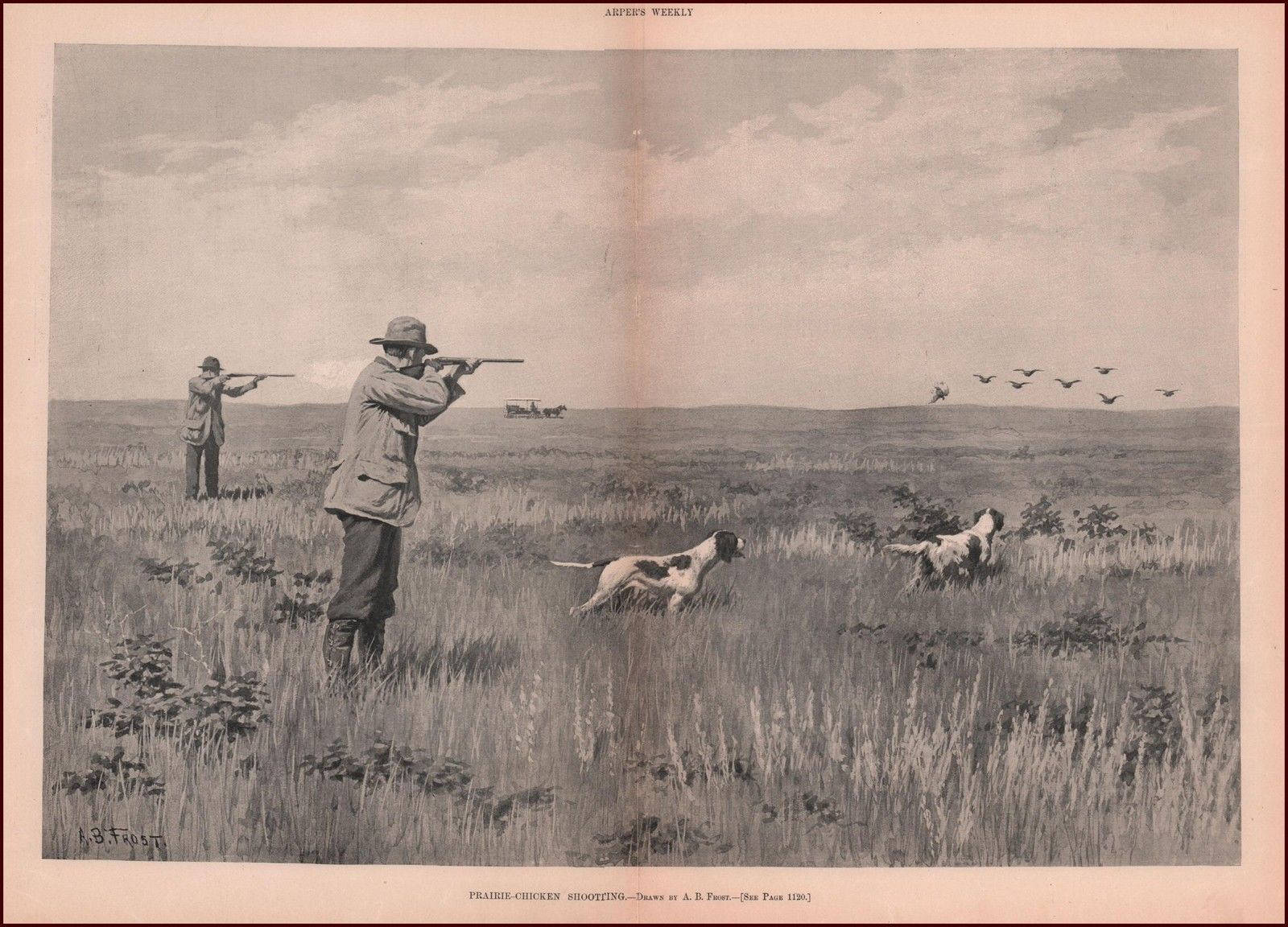 Prairie Chicken Shooting by A.B. Frost