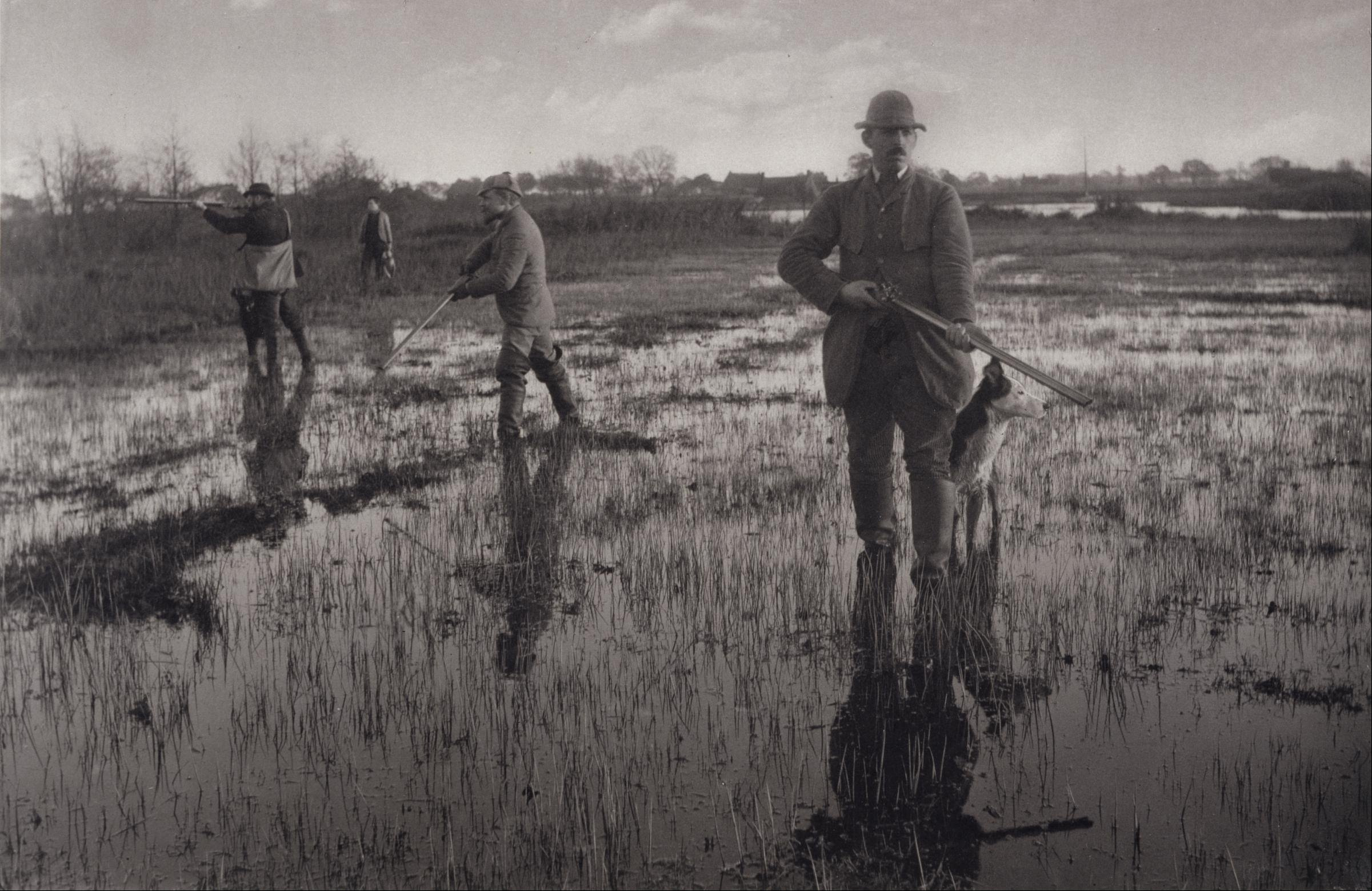 """Snipe Shooting"" A stunning  platinum print  from about 1880 by one of my favourite photographers Peter Henry Emerson."
