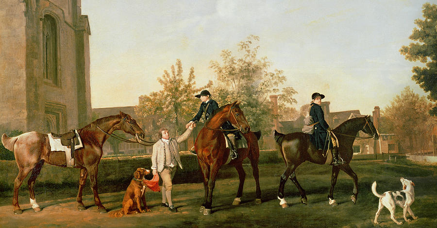 Joseph Man (standing), and probably his master's setting dog, by George Stubbs, A.R.A. (1724-1806)