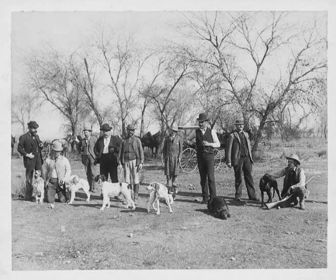 Photo from an American field trial in the 1890s