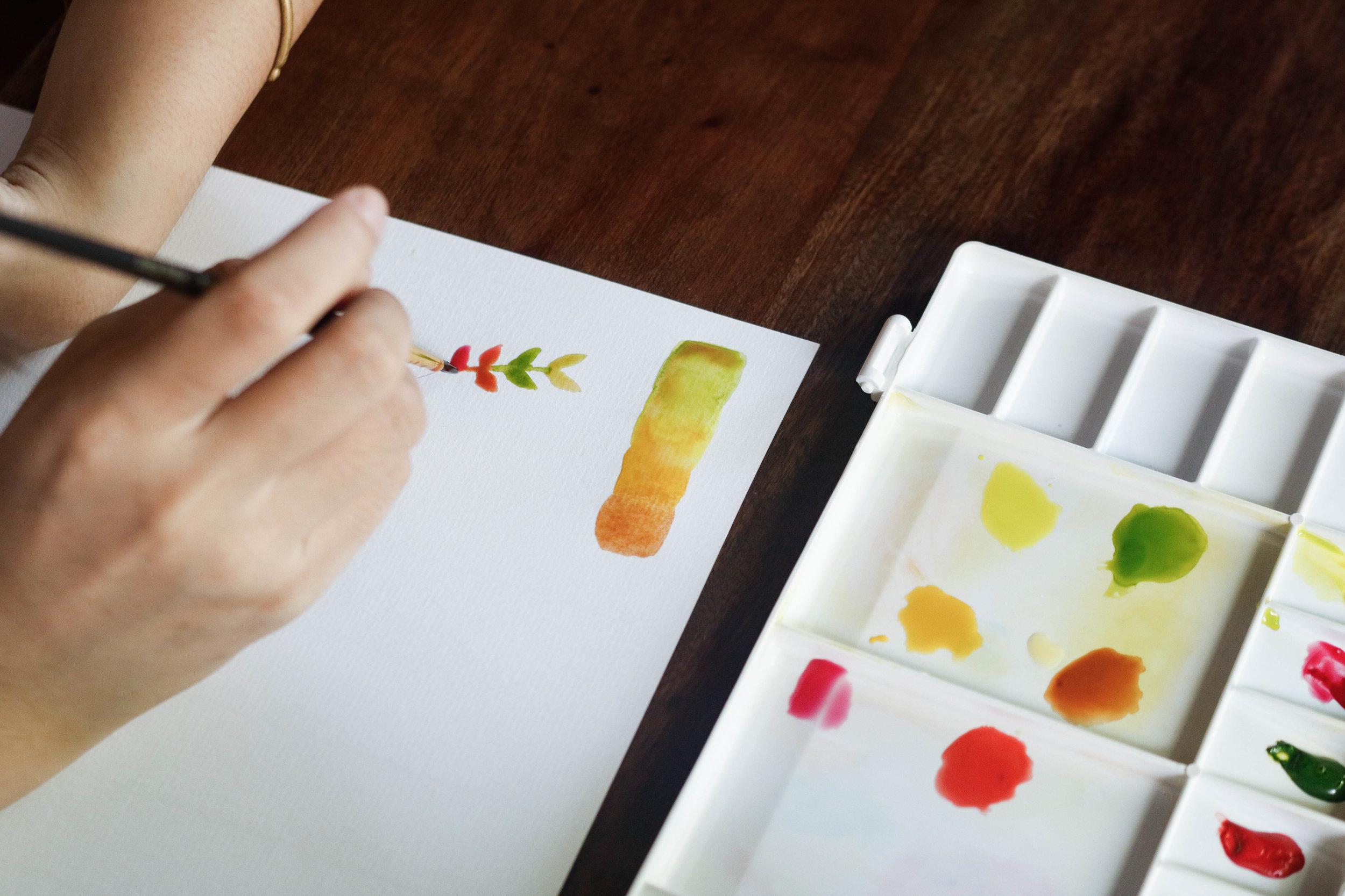 画家のLeRinさんと一緒に水彩画を学ぼう - Hum Vegetarian, Garden & Restaurant32 D10, Thao Dien, District 2, HCM city