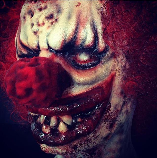 Clown+Halloween+SFX+Maquilleuse