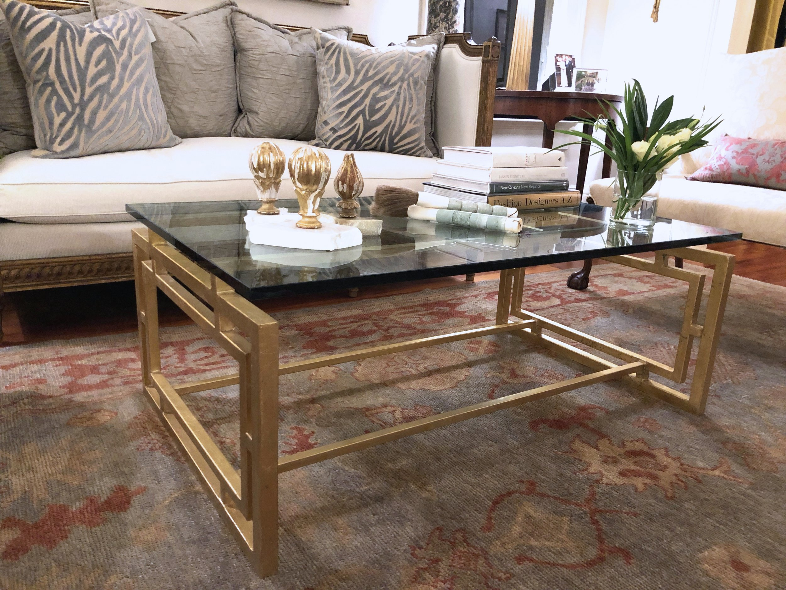 Pontchartrain coffee table: gold leaf finish.jpg