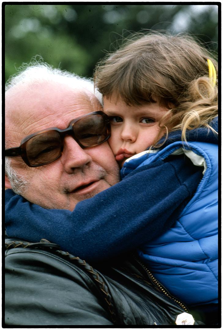 Hells Angel and Granddaughter, Santa Rosa