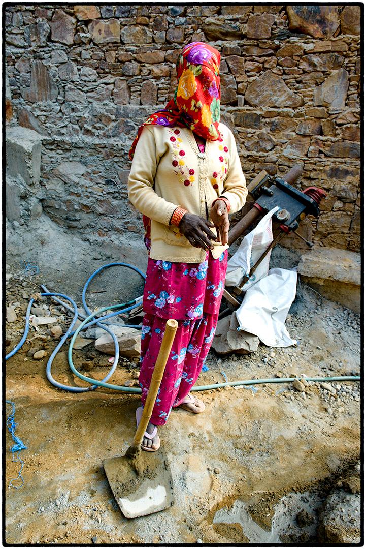 Construction worker, Neemrana, India
