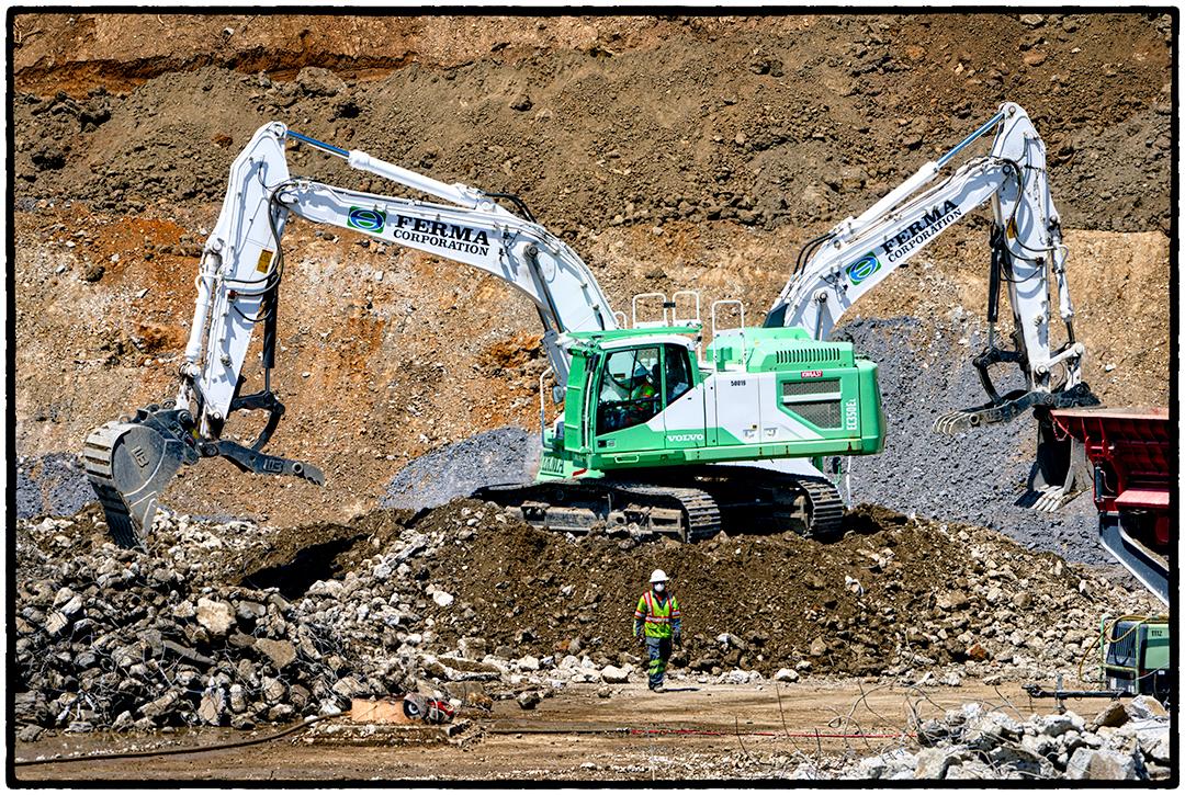 Removing the Old Reservoir, Kensington, CA