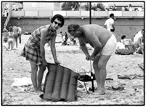 Filling the Raft, Santa Cruz, CA 1975