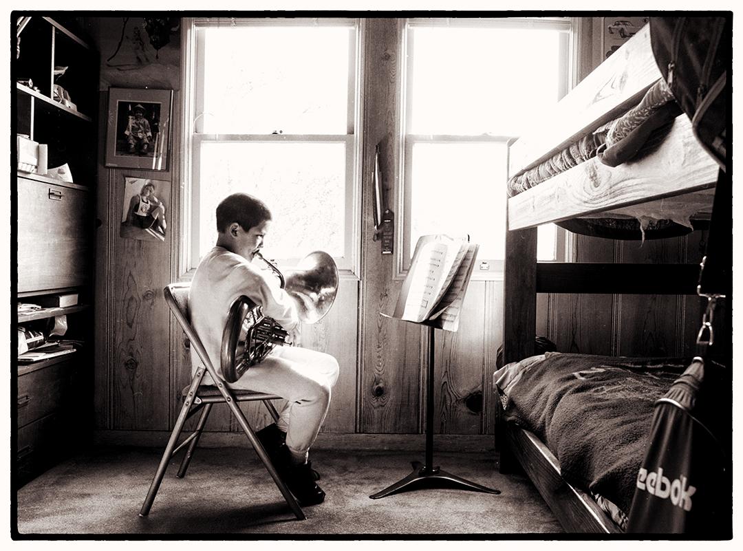 French Horn Practice, Santa Rosa, 1989