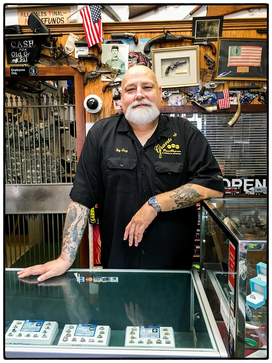 Proprietor, Pawn Shop, El Cerrito