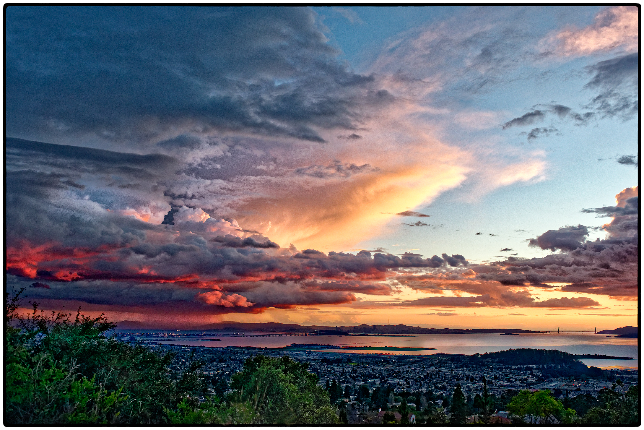 Sunset and Thunderstorm, SF, February 2015