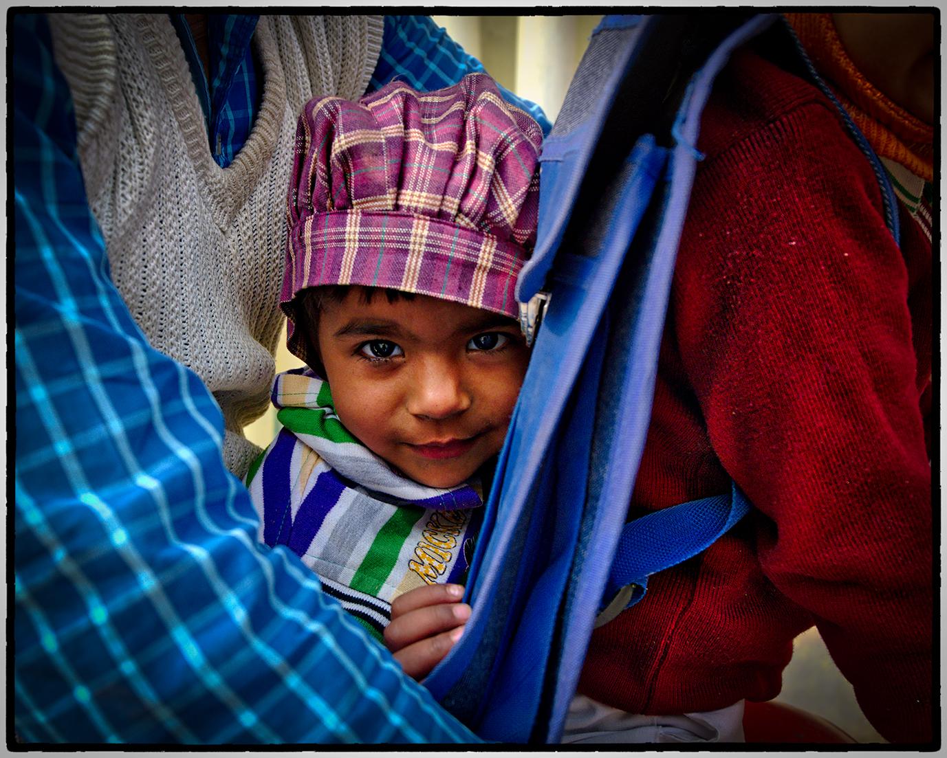 Child on Motorbike, Neemrana, India