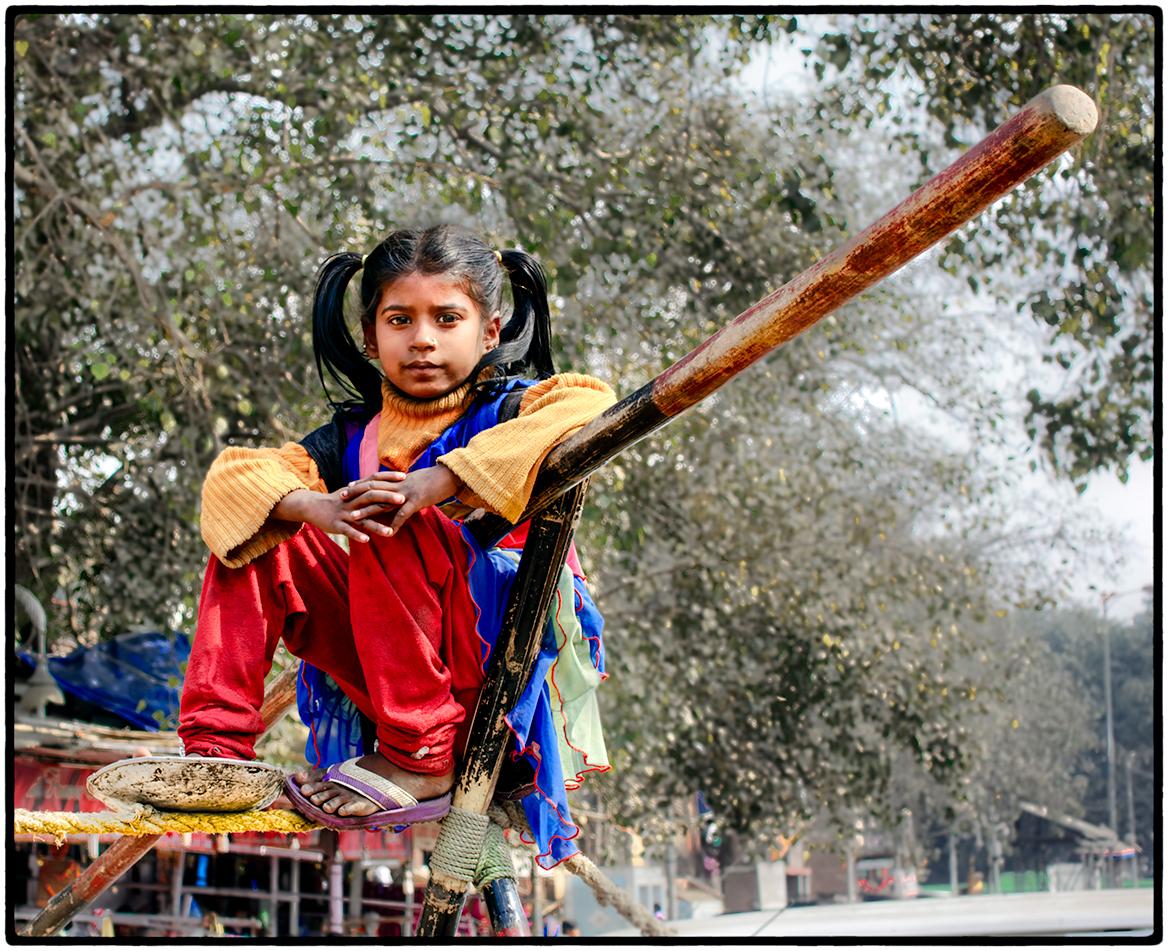 Tightrope Walker, Delhi, India