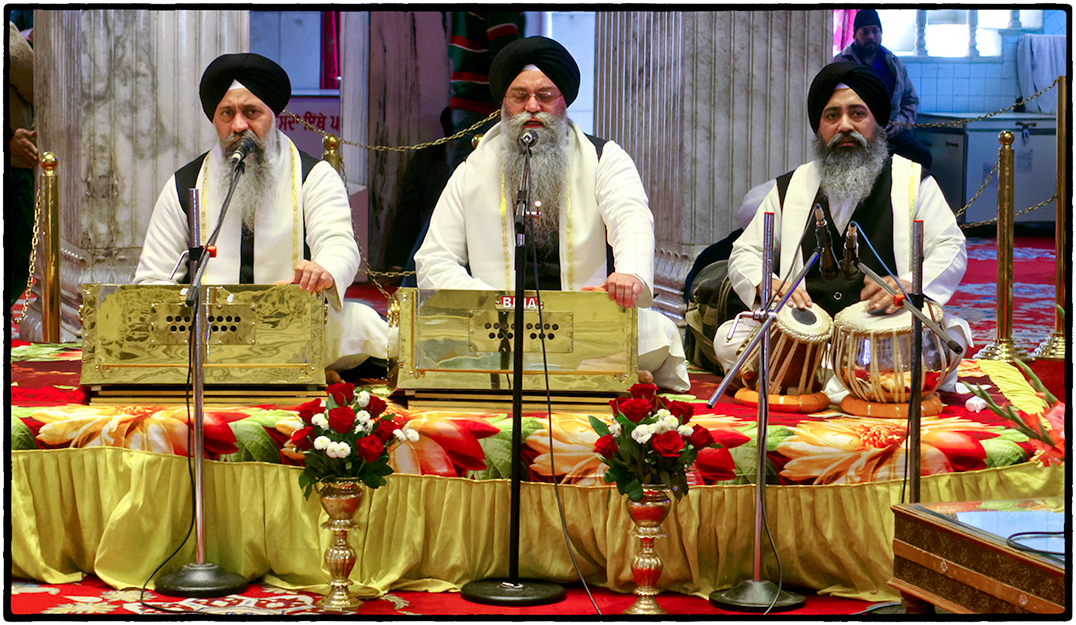 Sikh Musicians, Sikh Temple, Delhi, India