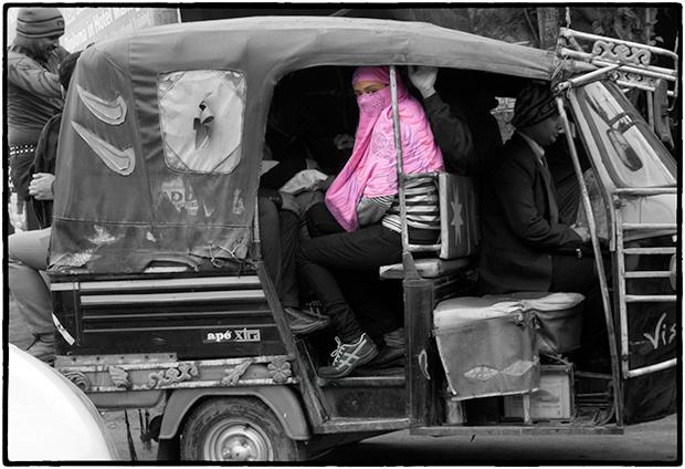 Passenger in a Tuk-Tuk, Udaipur, India