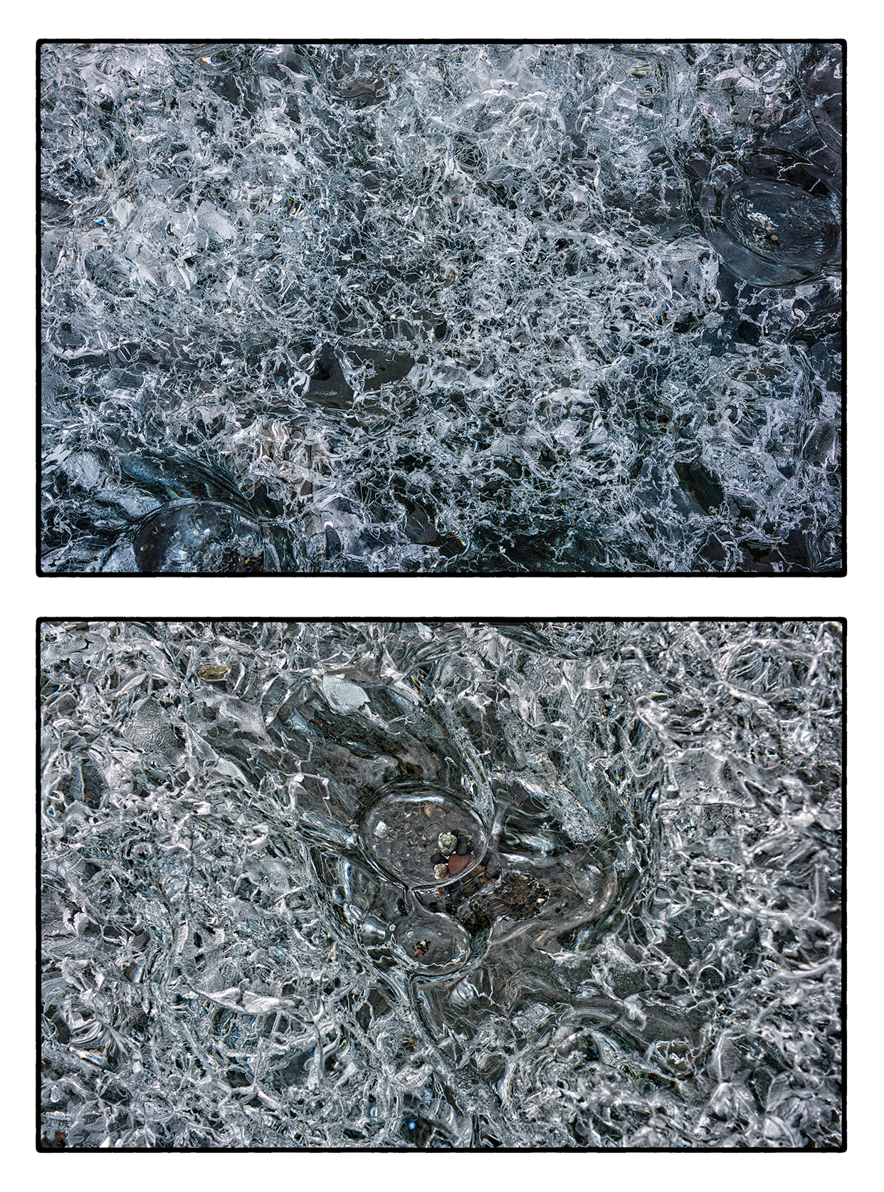 Close-ups of Thousand Year Old Ice Crystals