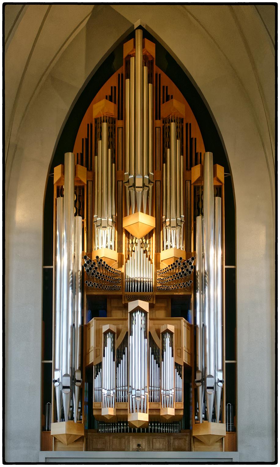 Pipe Organ at Hallgrimskirkja, a Lutheran Church