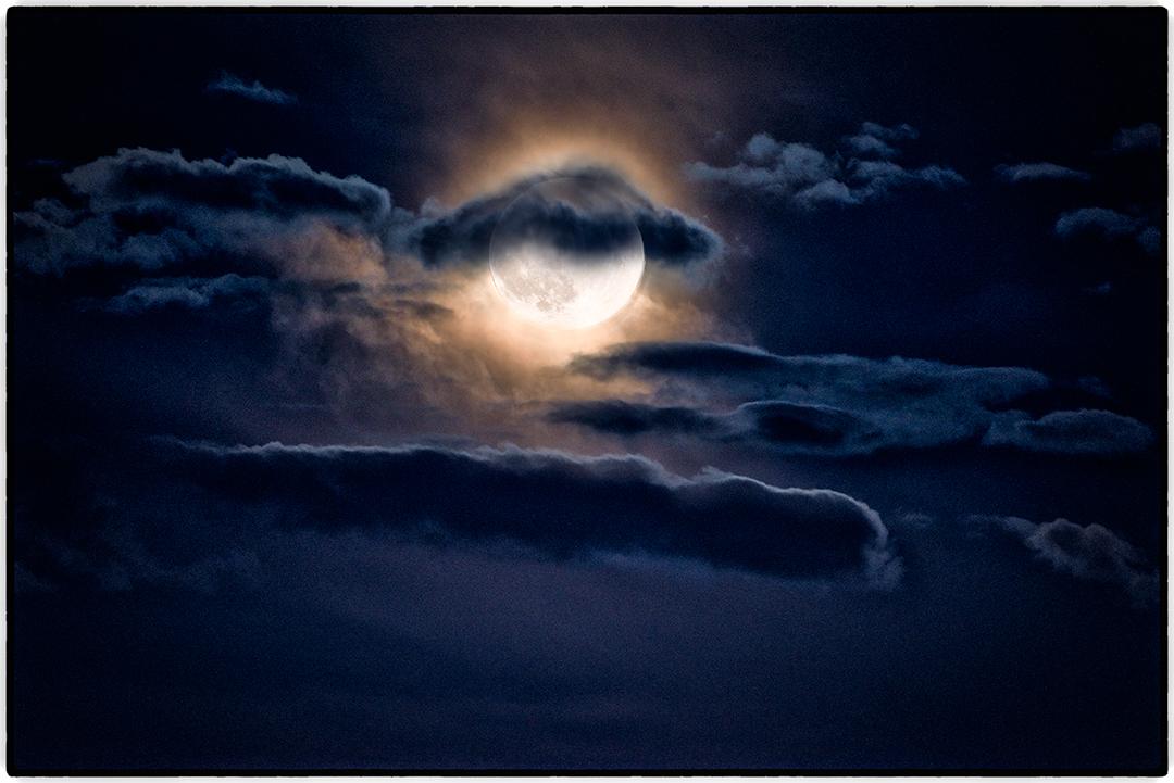 """The """"Supermoon"""" Shortly Before Sunrise, Boulder, Utah"""