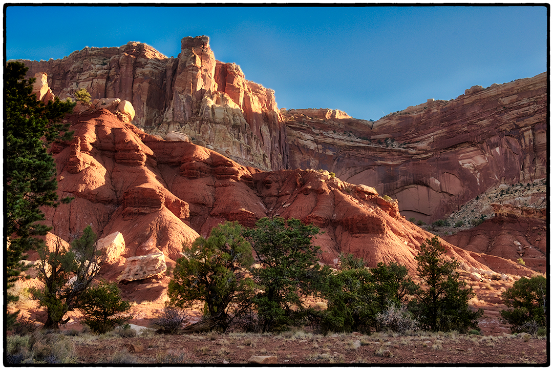 Early Morning Along the 10 mile Scenic Drive in Capitol Reef National Park, Utah